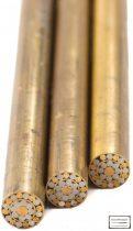 Mozaik szegecs 8mm x 65mm sárgaréz, rozsdamentes acél, kitöltött