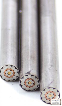 Mozaik szegecs 6mm x 65mm acél, vörösréz, sárgaréz, kitöltött