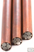 Mozaik szegecs 6 mm x 65 mm vörösréz, acél kitöltött