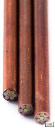 Mozaik szegecs 3mm x 65mm vörösréz, sárgaréz, acél kitöltött