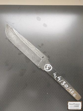Lamă cuţit damasc carbon 4,4x30x126mm #5
