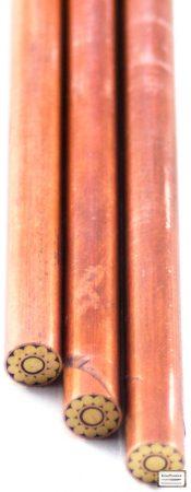 Mozaik szegecs 6mm x 65mm vörösréz, sárgaréz, kitöltött