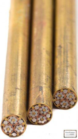Mozaik szegecs 7mm x 65mm sárgaréz, acél, vörösréz, kitöltött