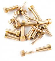 Réz szegecs 6mm fejjel (10db)