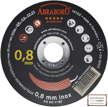 ABRABORO® Chili INOX GOLD EDITION  125 x 0.8 x 22mm