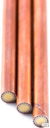 Mozaik szegecs A 6mmx65mm vörösréz, acél, sárgaréz kitöltött