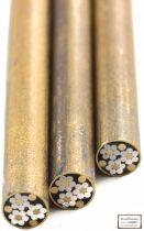Mozaik szegecs 7mm x 65mm acél, sárgaréz kitöltött