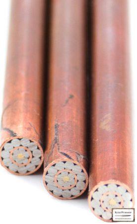 Mozaik szegecs 6 mm x 65 mm vörösréz, acél, sárgaréz, kitöltött