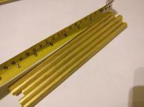 Sárgaréz cső 6 mm x 200 mm