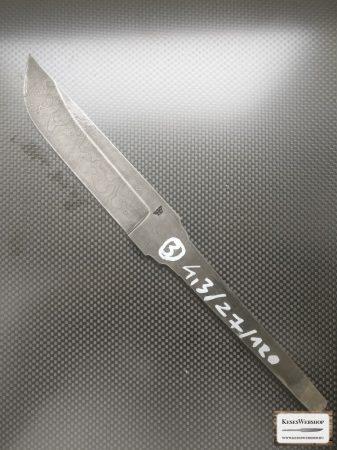 Lamă cuţit damasc carbon  4,3x27x120mm #3