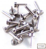 Acél szegecs 8mm-es fejjel 4mm-es belső átmérő (10db)