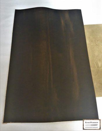 Bőr lap, Vadász zöld színű, Króm cserzett, növényi cserzett bőr lap 2,5 mm x 200 mm x 300 mm