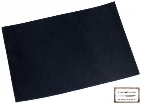 Bőr lap, Fekete színű, növényi cserzett bőr lap 3 mm x 200 mm x 300 mm