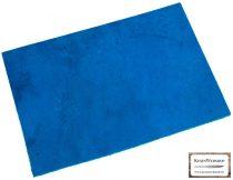 Bőr lap, Kék színű, növényi cserzett bőr lap 3 mm x 200 mm x 300 mm