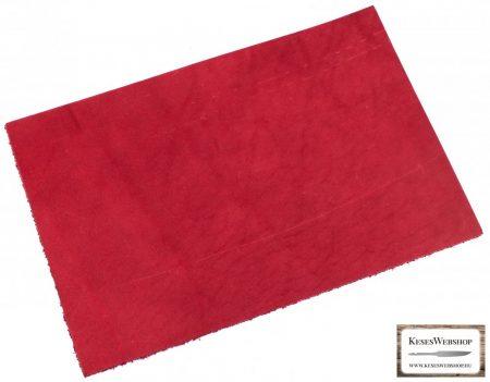 Bőr lap, Piros színű, növényi cserzett bőr lap 3 mm x 200 mm x 300 mm