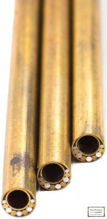 Mozaik szegecs cső 7mm x 65mm sárgaréz, acél kitöltött