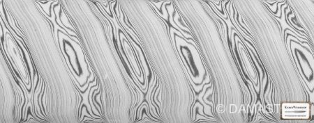 DAMASTEEL® Dense Twist - ca. 2,5 x 45mm /cm