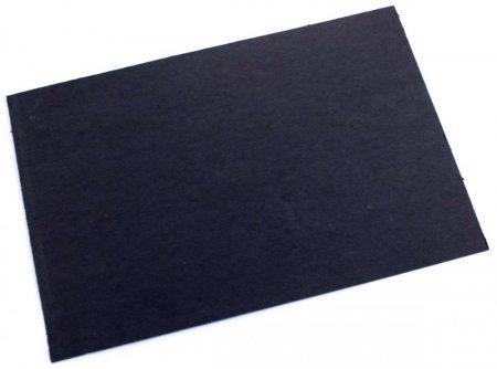 Čierna vulkánfíbra list velku 0,8mm