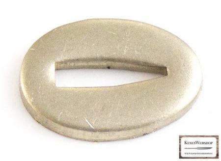 Gardă nichel-argintie pentru lame cu mâner nituit 15x22x3mm