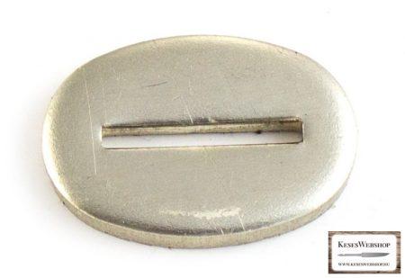 Gardă nichel-argintie pentru lame cu mâner nituit 16x24x3 mm