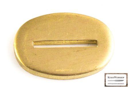 Sárgaréz  illeszték markolattüskés pengéhez 19x30x3mm