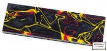 Kirinite Black/Red/Yellow  material pentru mâner, pereche 6.4mm