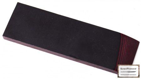Micarta, fekete/bordó panel pár, 8mm
